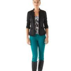 WHBM Blanc Slim Ankle Pants In Teal